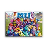 Monsters University Monsters Inc Diamond Painting 5D Number Full Drill Cross Stitch DIY Kits, Suitable for Adults and Children, Family Art Decoration Crafts Mosaic Gifts 50x40cm/20x16inch