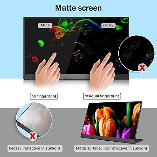 Portable Monitor 15,6 Zoll, UPERFECT Tragbarer Gaming Monitor IPS Bildschirm 1920 * 1080 Full HD, USB C Monitor mit HDMI Typ-C für Handy Laptop PS3 PS4 PS5 Switch Xbox mit Schutzhülle