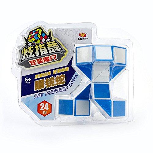 HJXDtech-Yongjun 24 Secciones Puzzle de Serpiente mágica Pies torcer Cubo Plegable Tornillo mágicas  Juguete Relajante e Interesante del Rompecabezas - Cobra