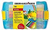 Eberhard Faber 572010 - Plastilin-Knete in Kunststoffbox, inklusive 2 Modellierwerkzeuge, sortiert
