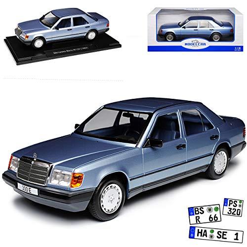 Model Car Group Mercedes-Benz E-Klasse 300 E W124 Limousine Metallic Blau 1984-1997 1/18 Modell Auto