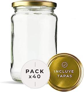 Lot de 40 bocaux en verre contenance 720 ml avec couvercle. (40 unités)
