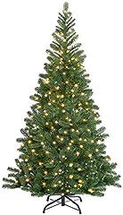 Casaria Árbol de Navidad Artificial Verde 140 cm 470 Puntas Color Natural con Soporte y Cadena de Luces de 100 LED
