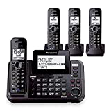 Panasonic KX-TG9542B + (2) KX-TGA950B Dect 6.0 2-Line Cordless Phone w/ Link-to-Cell & 2-Handsets + 2-Pack 2 Line Handset For KX-TG954X