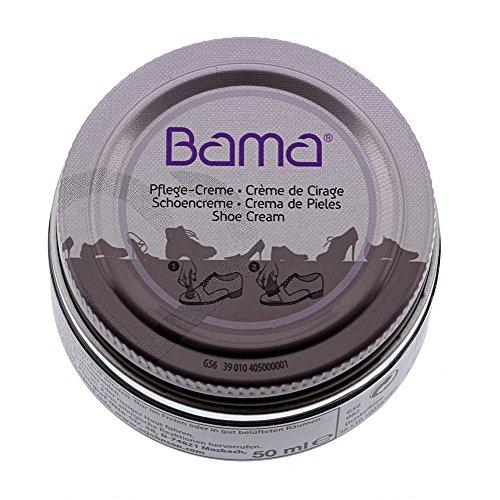 Bama Schuhcreme, Pflegecreme  im Glastiegel für Glattleder, optimale Pflege für Lederschuhe, Kaffeebraun, 50 ml