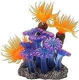 JONJUMP Resina de acuario Decoración de Coral Colorido Peces Acuario Decoración Coral Artificial para Tanque de peces Resina Adornos