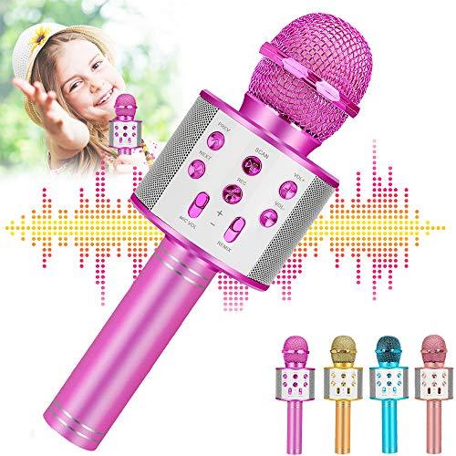 Newbrights Top Geschenke für 4 5 6 Jahre alte Mädchen, Handheld Karaoke Mikrofon für Kinder, Hot Girl Spielzeug Alter 7 8, bestes beliebtes Geburtstagsgeschenk für 9 10 11 12 Jahre alte Mädchen Teenager
