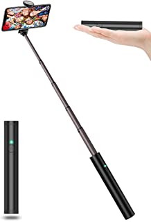 JTWEB Selfie Stick Bluetooth All in One Selfie Sticks Upgrade Aluminum Design for iPhone Xs/XS max/XR/X/8/8P/7/7P/6s/6/5, Android Galaxy S9/8/7/6/Note, Huawei, Nubia, More (Selfie Stick Compact)