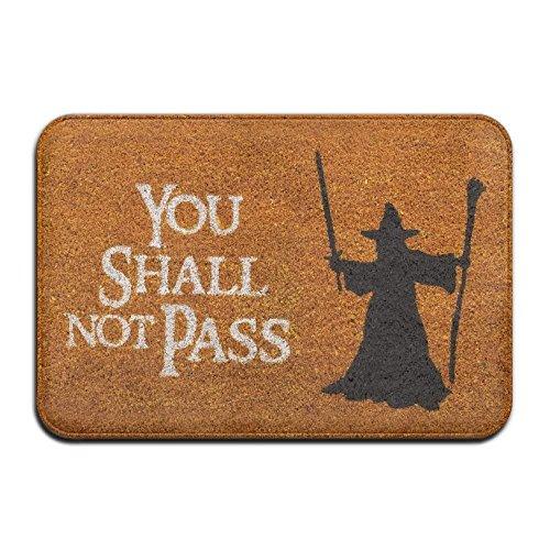Klotr Felpudos, You Shall Not Pass Cool 15.7 X 23.6 In Absorbent Anti Slip Floor Rug Carpet Door Mat