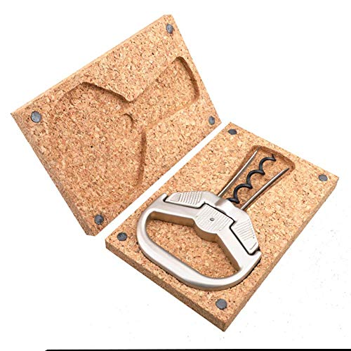 XBR Gift Wine Bottle Opener, Two-Prong Cork Puller with Box, Durable Zinc Alloy for Vintage Wine, Anniversaire, bar, Party, Best Gift for Wine Lover