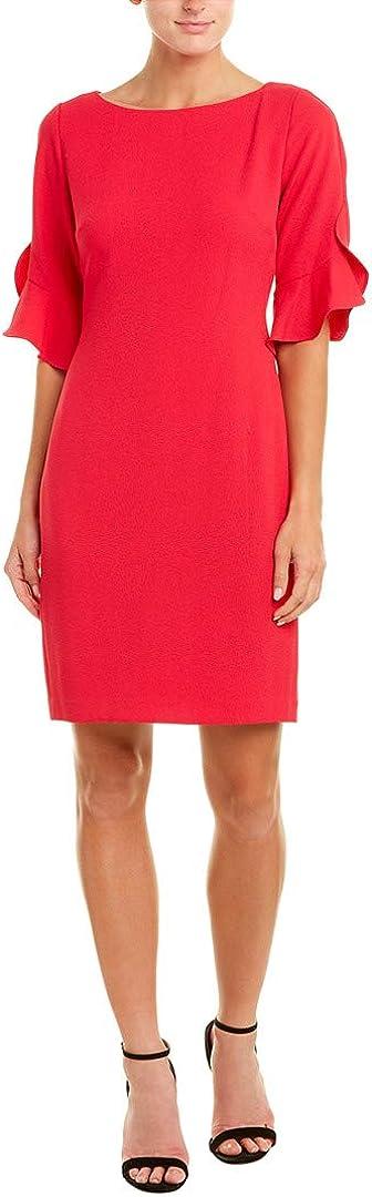 Karl Lagerfeld Paris Women's Tulip Sleeve Crepe Dress