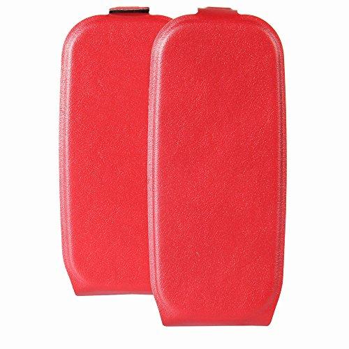 Custodia per Nokia 105 (2017), 95street Custodia Portafoglio in pu Pelle, Portafoglio Cover con Porta Carte, Funzione Stand, Chiusura Magnetica Per Nokia 105 (2017),Rosso