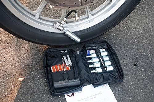V1 Motor CO2 Motorcycle, ATV Flat Repair Kit Tubeless Tire Repair Kit