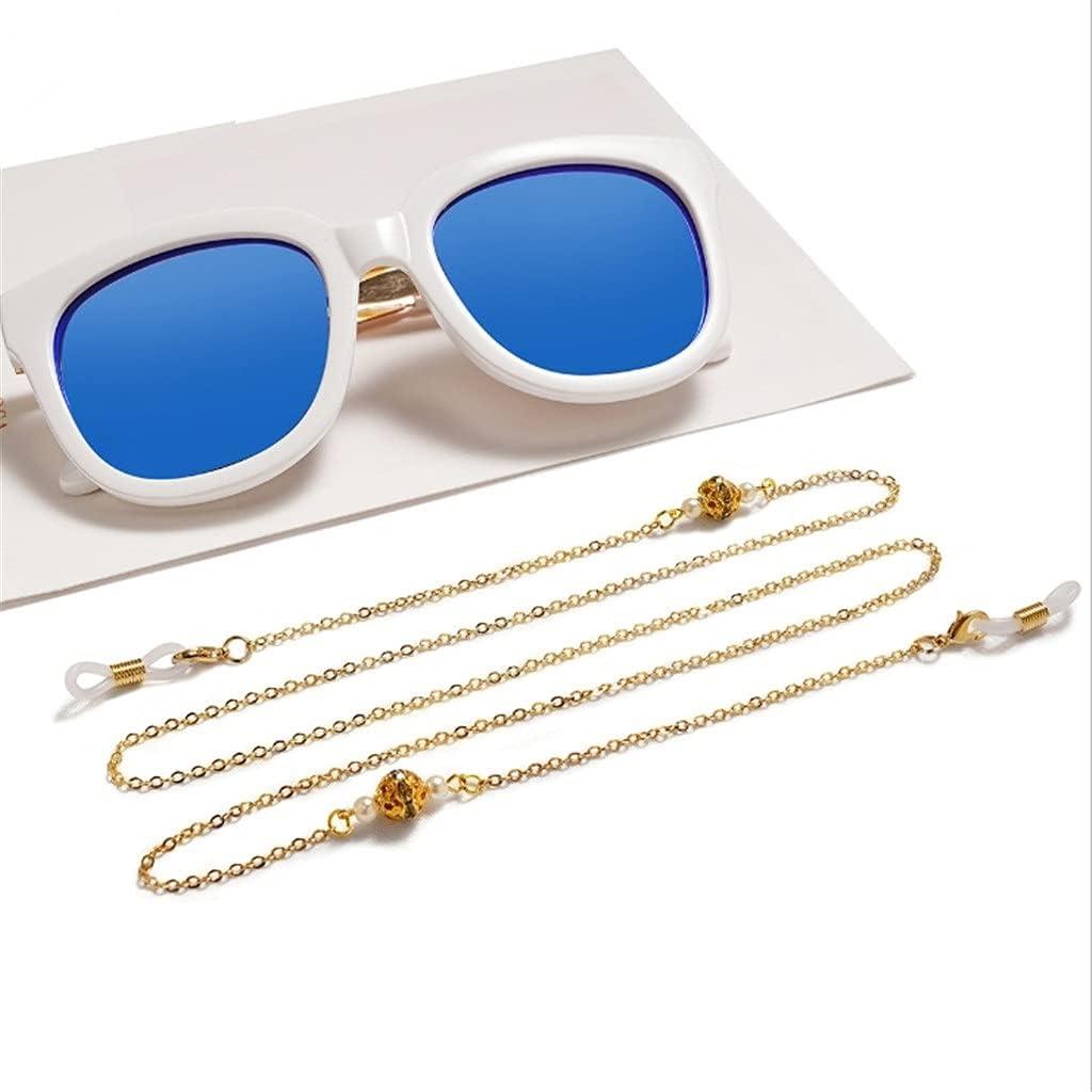CFSNCM Multilayer Pendant Sunglasses Chain Neck Lanyard Strap Cords Casual Reading Glasses Body Women Accessories (Color : D, Size : Length-70CM)