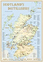 Whisky Distilleries Scotland - Tasting Map 24x34cm: The Whiskylandscape in Overview - Maßstab 1:1.750.000