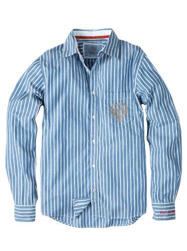 Bogner Fire + Ice Herren Hemd TITO, Dark Blue Stripes, 50, 5430-4375