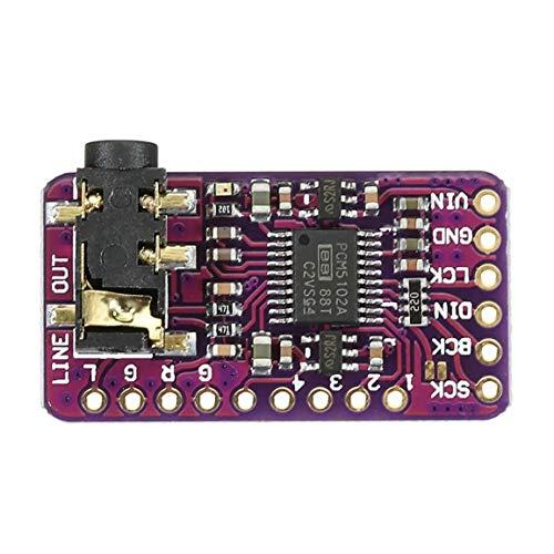 GY-PCM5102 I2S IIS microprocesador de un solo chip sin pérdida de audio digital tablero decodificador DAC para pastel de frambuesa