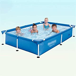 Family Swimming Pool Frame Pool Thickened PVC Material Family Pool Can Accommodate 2-4 People with Swimming Pool Cover (Co...