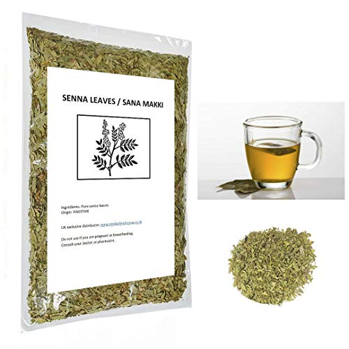 25g Pure Herbal Senna Leaves | Natural Green Tea | Pure Sana Makki Leaves | Loose Tea coms in a Pouch with ziplock Bags for Freshness. Use to Cure Many Illnesses (25gm)