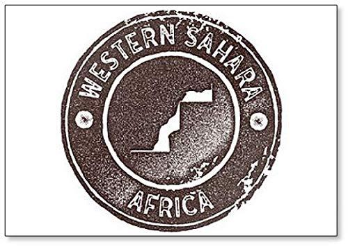 Western Sahara Map Vintage Stamp Illustratie Klassieke Koelkast Magneet
