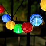 InnooTech bunte Solar Lichterkette Lampion 30er LED 6 Meter Laterne Gartenbeleuchtung Innen- und...