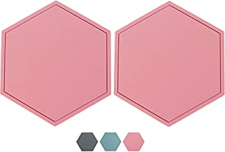2 Pcs (6.7'' x 5.8'') Silicone Trivet Mats, 3.2'' Thick Heat Insulation Pads, Trivets for Hot Pots and Pans, Hot Pads for ...