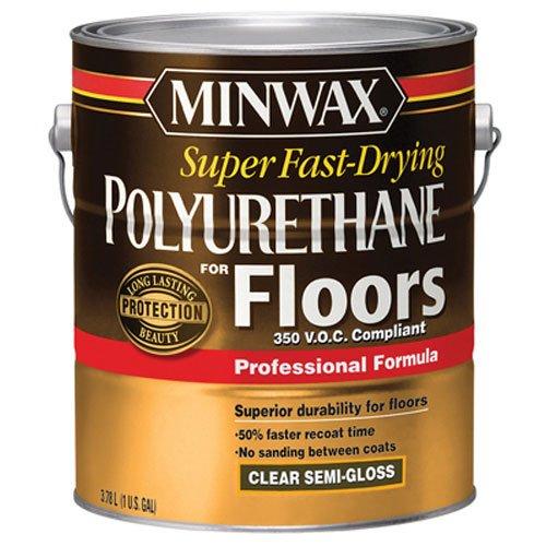 Minwax 130240000 Super Fast-Drying Polyurethane For Floors 350 VOC, 1 gallon, Semi-Gloss