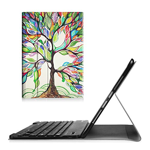 Fintie Keyboard Case for iPad Pro 9.7 - [Blade X1] Slim Shell Standing Cover with Magnetically Detachable Wireless Bluetooth Keyboard for iPad Pro 9.7 inch (2016 Version), Love Tree