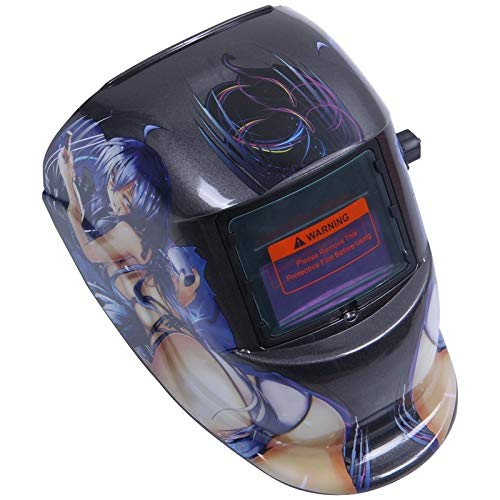 NGHSDO Careta Soldar Automatica Máscara de Soldadura automática de la Capilla Solar Casco de Soldadura (energía Solar for la Recarga) Protección de la Cara Mascaras De Soldar (Color : Black)