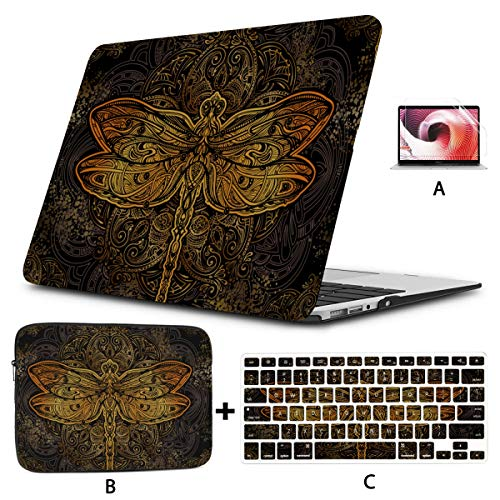 Macbook Air Protective Cover Cute And Petite Elf Dragonfly Macbook Pro Protector Hard Shell Mac Air 11'/13' Pro 13'/15'/16' With Notebook Sleeve Bag For Macbook 2008-2020 Version