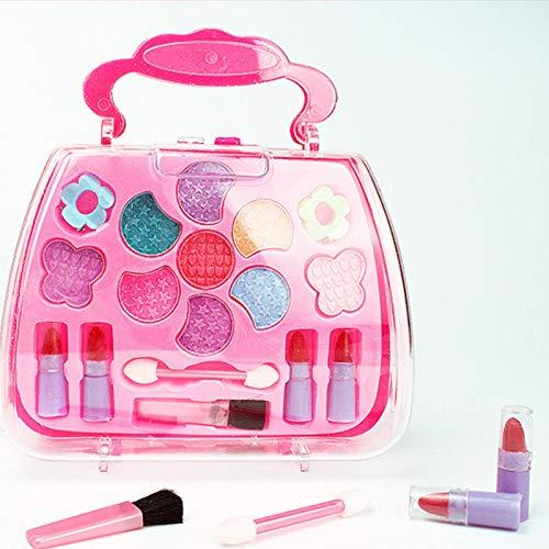 Kinderschminke mädchen, Waschbar Make up Spielzeug für Mädchen Kinder Nagellacke mit Koffer für Mädchen, Mädchen Kinderschminke Set, Waschbar Schminkset Spielzeug, Kosmetiktasche Makeup Rollenspiel