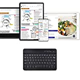 Transwon Keyboard for ONN 7 In Tablet, ONN 8 Inch Tablet Keyboard, ONN 7 Inch Tablet Keyboard, ONN 8 Pro Keyboard, Ultrathin (4mm) Universal Keyboard - Black