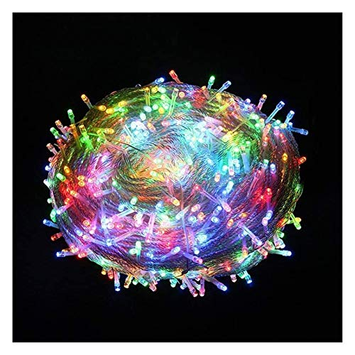ZSMPY Fairy Lights Led String Lights Fairy Tale Lights 100-3000 LEDs 8-Mode 10-300m String Lights, Indoor/Outdoor Christmas, Party, Bedroom, Wedding Colored Lights (Size : 50m-500 LEDs)