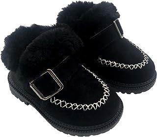أحذية برقبة قصيرة مبطنة للكاحل للثلوج من القطيفة للفتيات الصغيرات