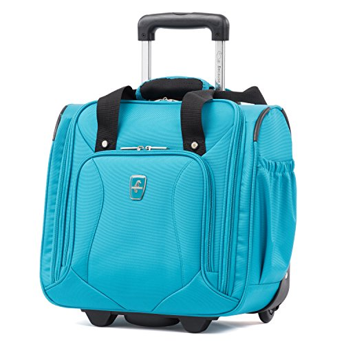 Atlantic Luggage Atlantic Ultra Lite Softsides Rolling Underseat Carry-on, Turquoise Blue, One Size