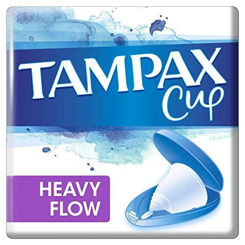 Tampax Copa Menstrual, Diseñada junto a una Ginecóloga, Flujo Heavy, Incluye Funda de Transporte