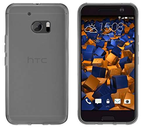 mumbi Hülle kompatibel mit HTC 10 Handy Hülle Handyhülle, transparent schwarz