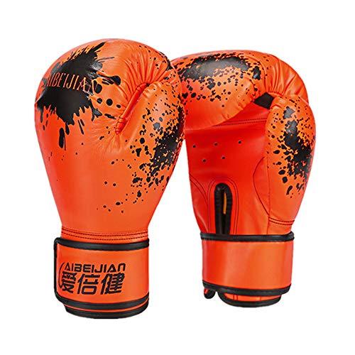 YWRD Box Handschuh Boxhandschuhe Kickboxhandschuhe Thai Boxhandschuhe Boxhandschuhe für Erwachsene PU Leder Boxhandschuhe Boxsackhandschuhe orange,Adult