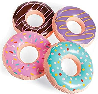 Fun Express Inflatable Donuts, Various Colors, (IN-13720690), (4 Pack)