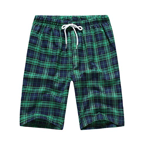 Herren Casual Shorts, Multifunktionale Sporthose High Waist Drawstring Elastic Waist Comfort Plaid Shorts Laufshorts Schnell Trocknende Fitness Joggenshorts