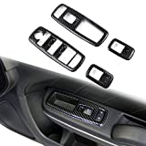 Crosselec Carbon Fiber Window Lift Trim Switch Panel Cover Trim for Dodge Charger 2011+/ Chrysler 300 2015-2021