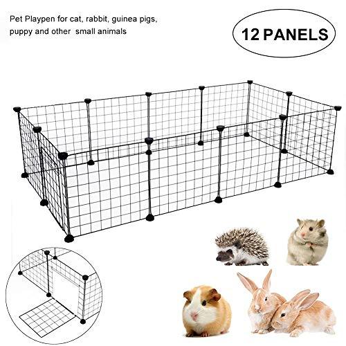 Tnfeeon Hardlooprooster voor puppy's metalen hek DIY gratis looprooster voor huisdieren