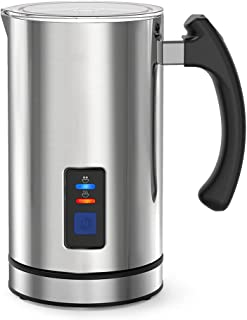 Milk Frother Electric Automatic Milk Steamer for Coffee, Hot Chocolates Cappuccino, Frother Warmer, Automatic Hot and Cold...