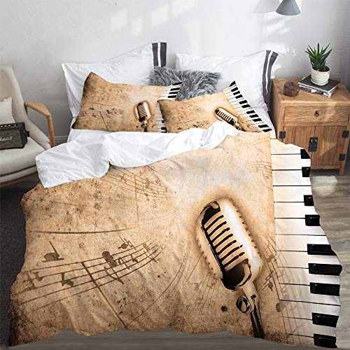 PANILUR duvet cover,dirty music background with piano and sepia,Duvet Cover 135x200cm PillowCases 2(50x80cm)