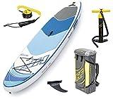 BESTWAY 65304 - Tabla Paddle Surf Hinchable Hydro-Force Oceana Tech con Bolsa de Transporte