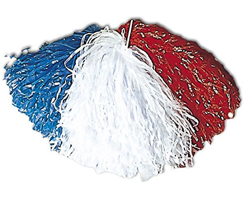 Pompon Supporter FRANCE - Bleu Blanc Rouge - Football deguisement POMPOM GIRL