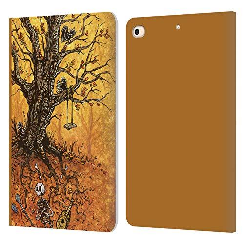 Head Case Designs sous Licence Officielle David Lozeau Arbre De La Vie Art Colorée Coque en Cuir à Portefeuille Compatible avec Apple iPad Mini (2019)