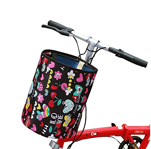 Lowest Prices! Foldable Front Bicycle Basket Vegetable Canvas Basket Multi Function Portable