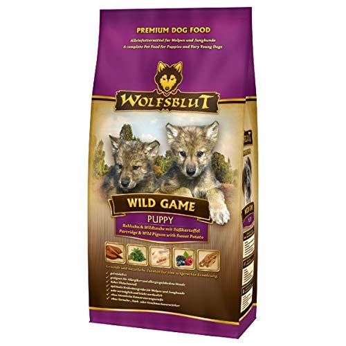 Wolfsblut | Wild Game Puppy | 15 kg | Rebhuhn und Wildtaube | Trockenfutter | Hundefutter | Getreidefrei
