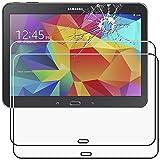 ebestStar - kompatibel mit Samsung Galaxy Tab 4 10.1 Panzerglas x2 SM-T530, T533 T531 T535 Schutzfolie Glas, Schutzglas Bildschirmschutz, Bildschirmschutzfolie 9H gehärtes Glas [Tab: 243.4x176.4x8mm 10.1